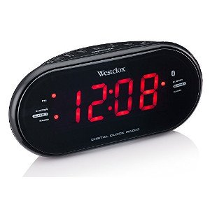 westclox 81012bt dual clock radio a modern clock radio for senior citizen geeks dont pinch. Black Bedroom Furniture Sets. Home Design Ideas