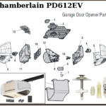 chamberlain replacement parts for chain drive garage door openers