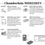 chamberlain wd832kev accessories