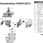 chamberlain wd832kev garage door opener parts