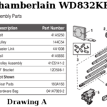 chamberlain wd832kev rail assembly parts
