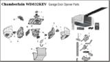 chamberlain replacement parts for belt driven garage door openers