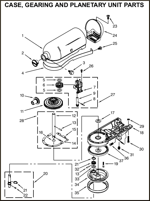 Kitchenaid Artisan Stand Mixer Replacement Parts Dont