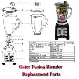 oster fusion blender parts