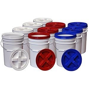 Food grade storage buckets for long term food storage