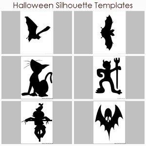 Halloween Silhouette Templates
