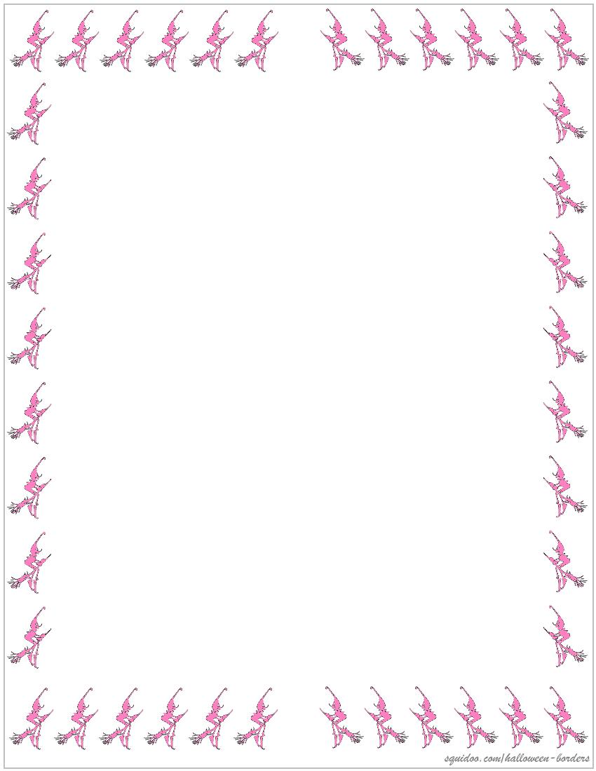 halloweenie witch pink border – Dont Pinch My Wallet