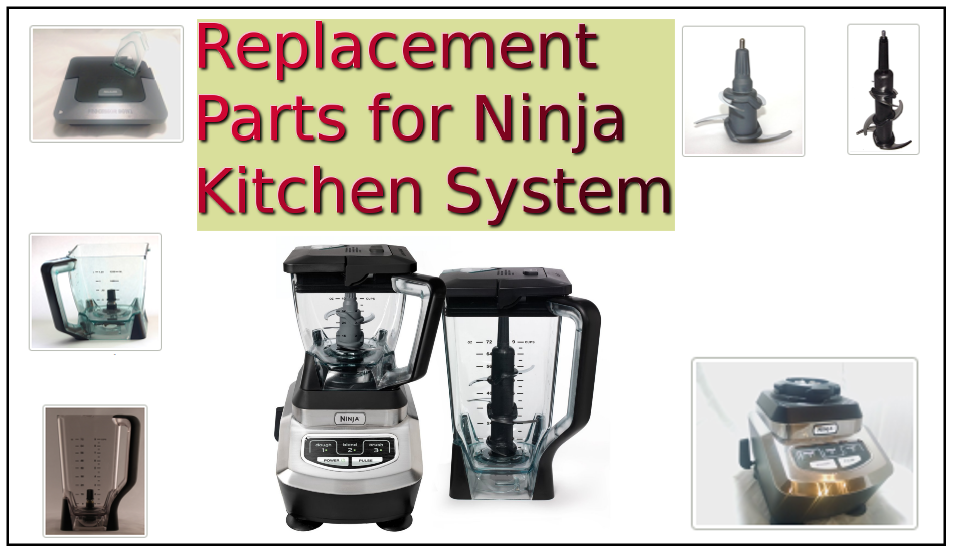 Replacement Parts for Ninja Kitchen System | Dont Pinch My ...