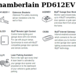 chamberlain pd612ev accessories