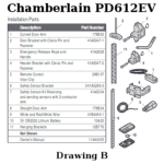 chamberlain pd612ev installation parts