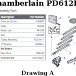 chamberlain pd612ev rail assembly parts