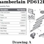 chamberlain pd612ev rail assembly parts