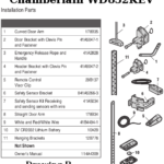 chamberlain wd832kev installation parts