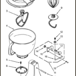 kitchenaid artisan pedestal unit parts