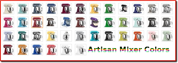 Kitchenaid stand mixer colors chart room image and wallper 2017