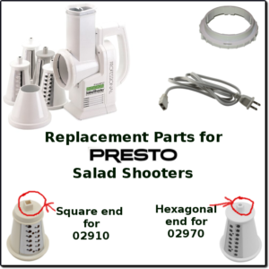 Fine Shred Replacement Cone for Presto Professional Salad Shooter