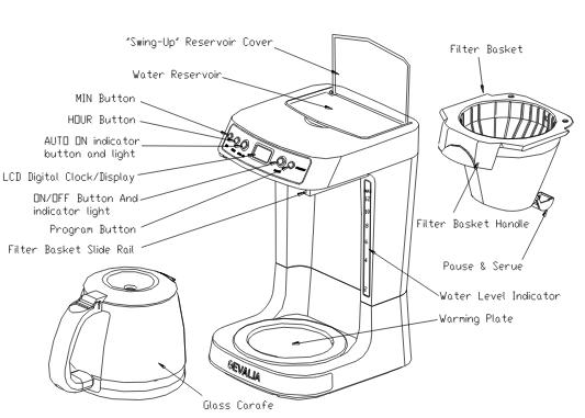 Gevalia 12 cup automatic coffee maker CM-22 Series including CM-2205