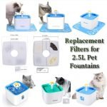 pet fountain filters square