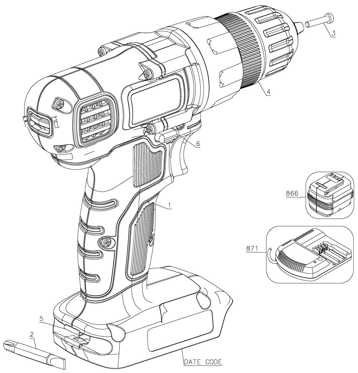 parts for black and decker ld120va