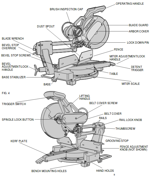 dewalt parts for dw708