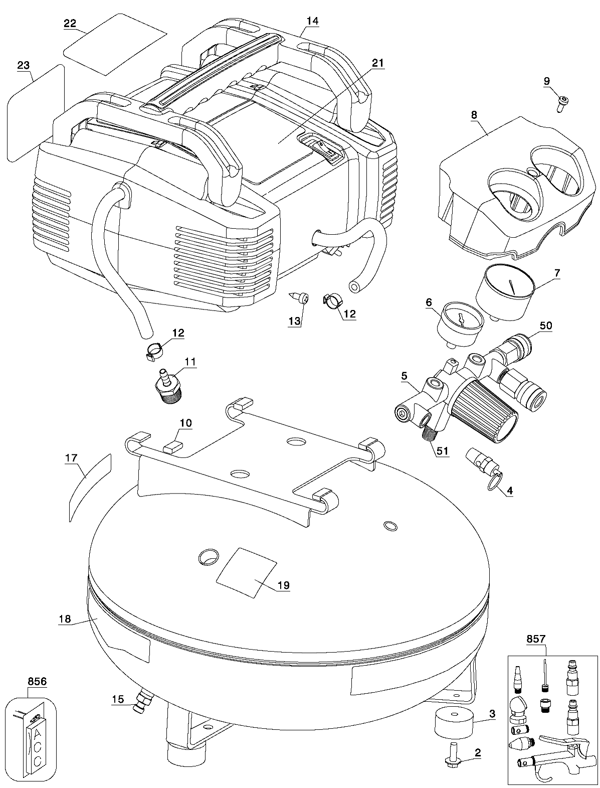 Porter Cable pancake compressor parts