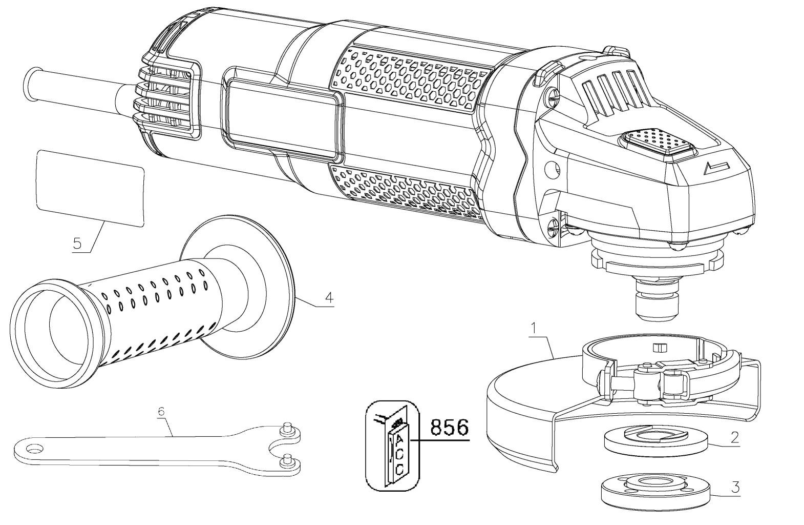 black & decker bdeg400 angle grinder parts