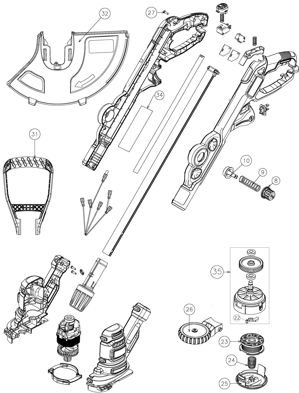 black and decker besta512cm parts