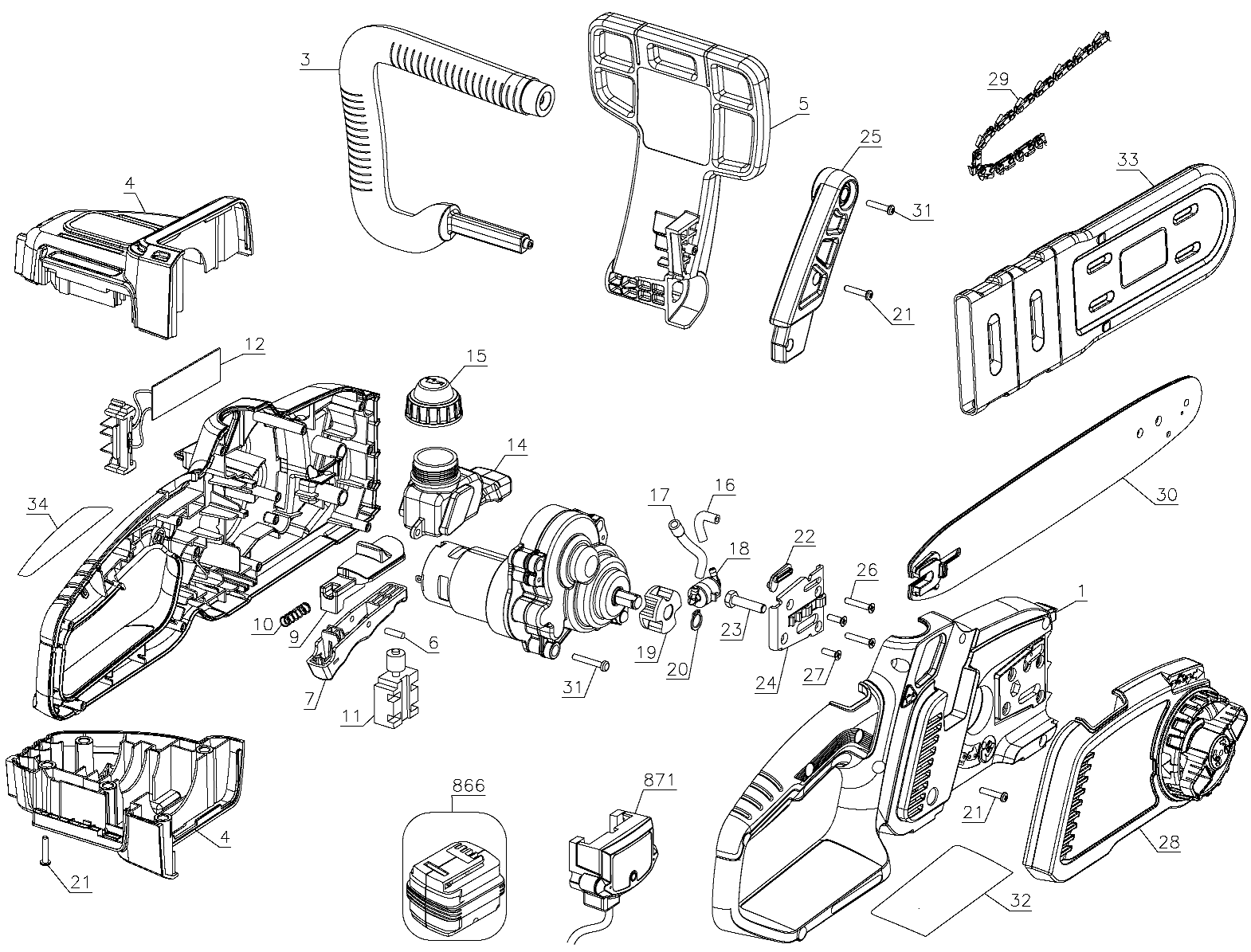 black and decker lcs1020 parts
