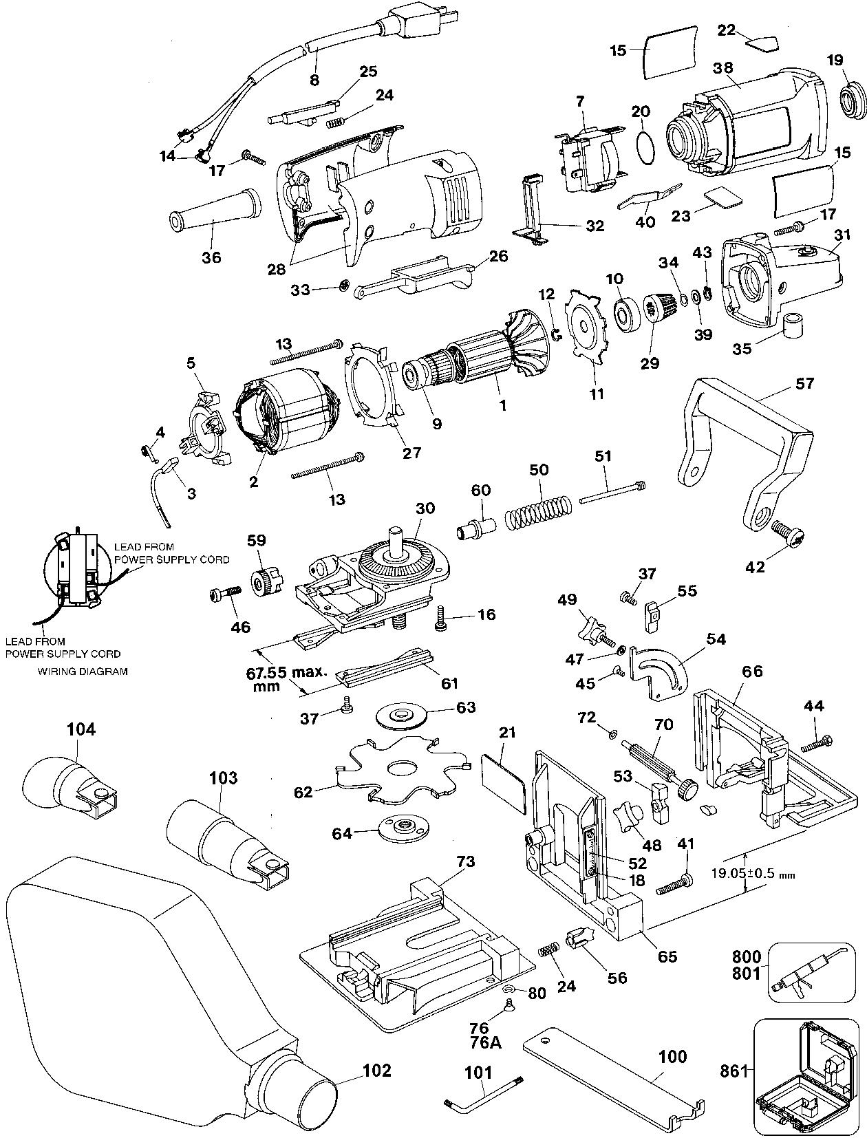dewalt dw682k plate joiner parts