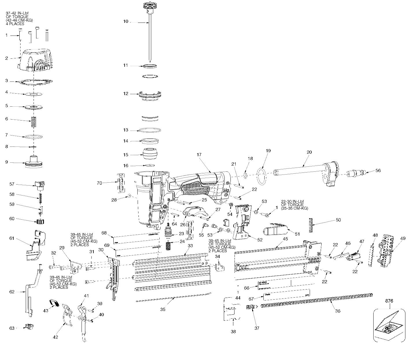 dewalt dwfp12231 parts