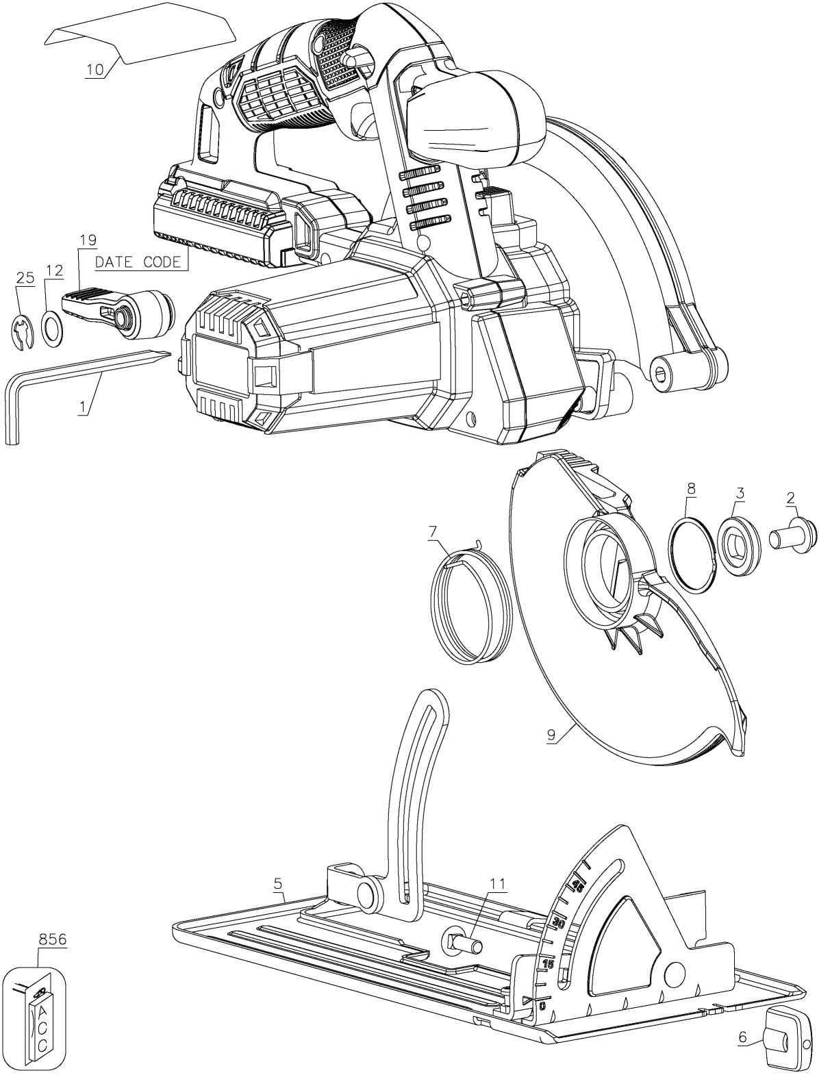 porter cable pcc660 parts