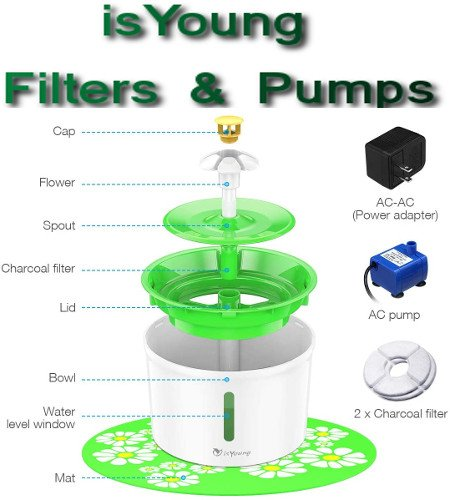 Isyoung Cat Fountain Filters And Pumps